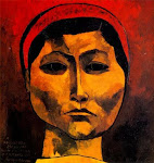Rigoberta Menchu - © Oswaldo Guayasamín, pintor, dibujante, escultor, grafista, muralista ecuatoriano