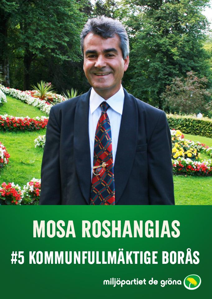 Fullmäktigekandidater - #5 Mosa Roshangias