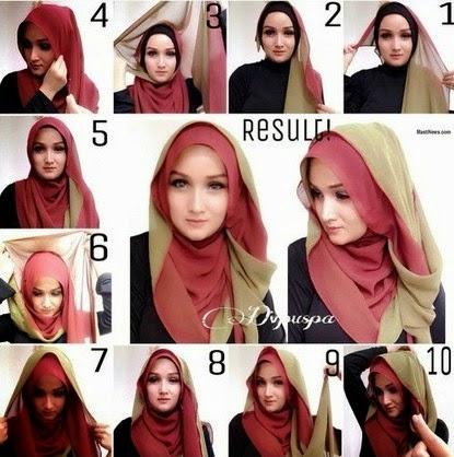 Cara Mudah Memakai Hijab Model Pashmina image