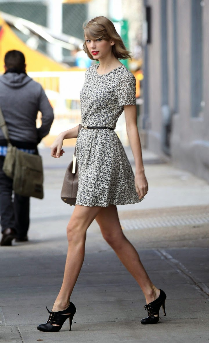 Taylor Swift sports flirty mini dress out and about in NY
