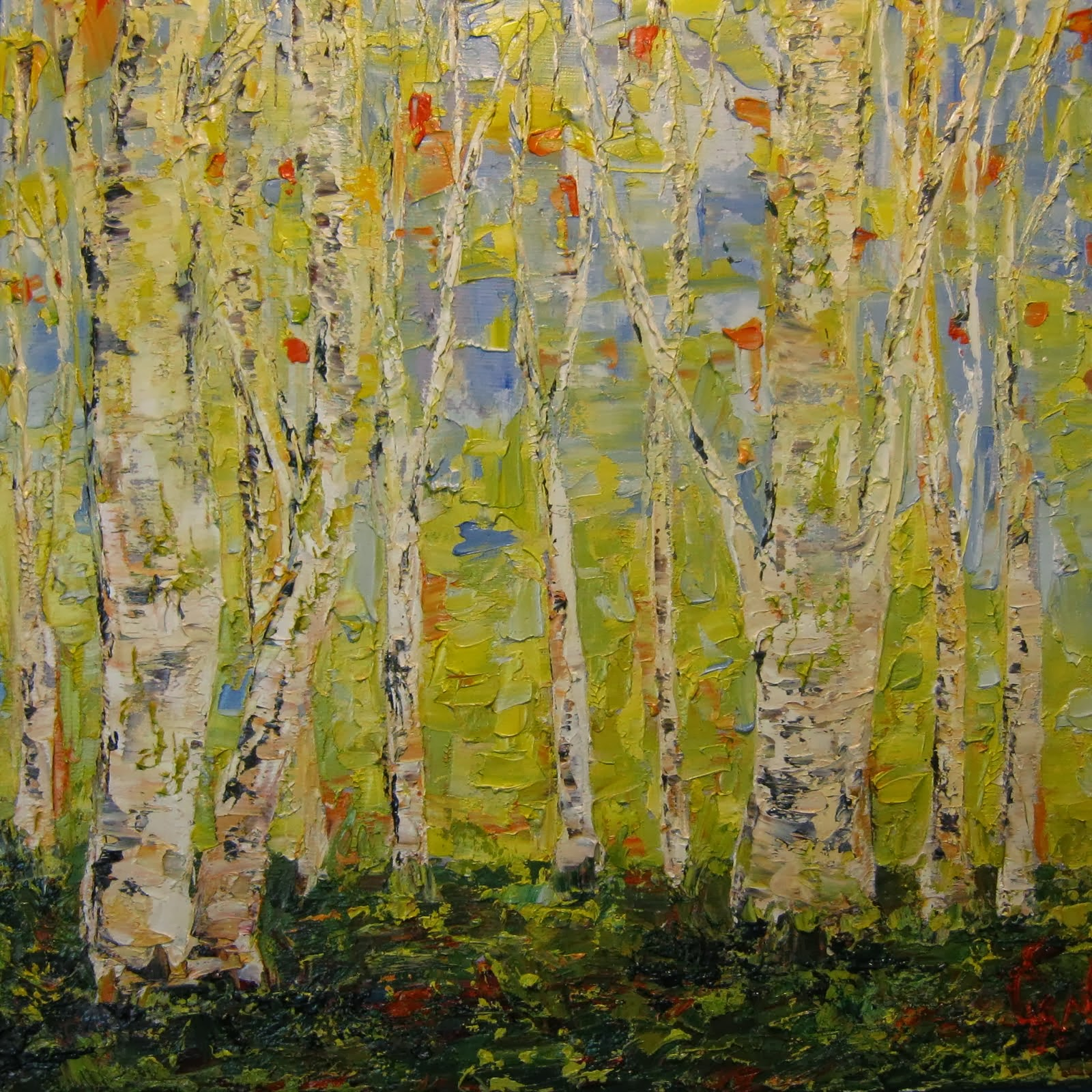 Shining Green Birch
