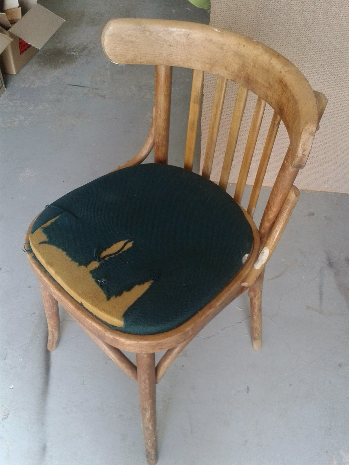 Before Restored. vintage bentwood chairs cafe bistro mid century