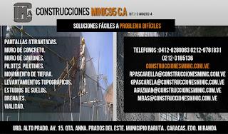 CONSTRUCCIONES MINIC 95 CA en Paginas Amarillas tu guia Comercial