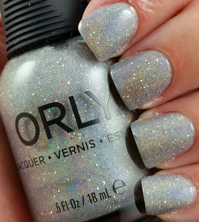 orly mirrorball, a silver holographic nail polish