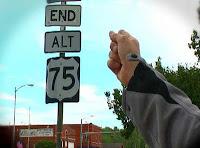 US-75 Alternate sign in Sapulpa