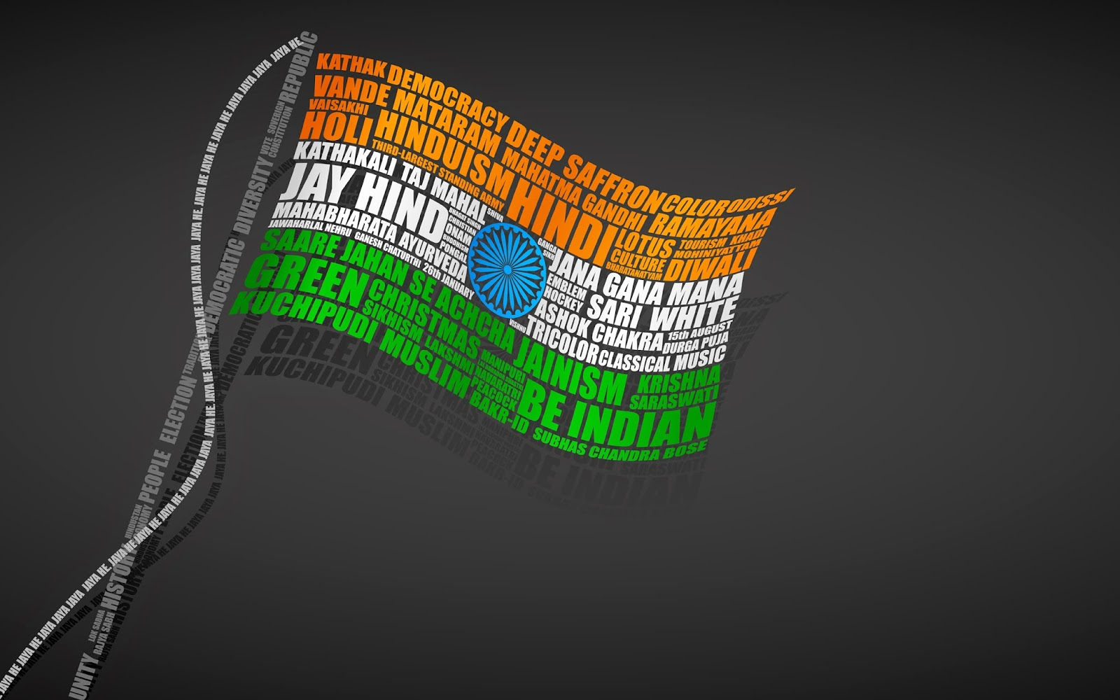 Indian Leader Name In Flag Republic Day Photos