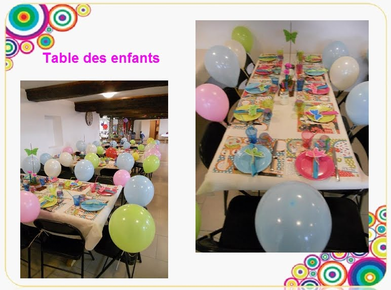 dm decoration de mon mariage tables des enfants. Black Bedroom Furniture Sets. Home Design Ideas