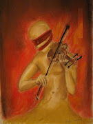Violin Player pastel all right reserved