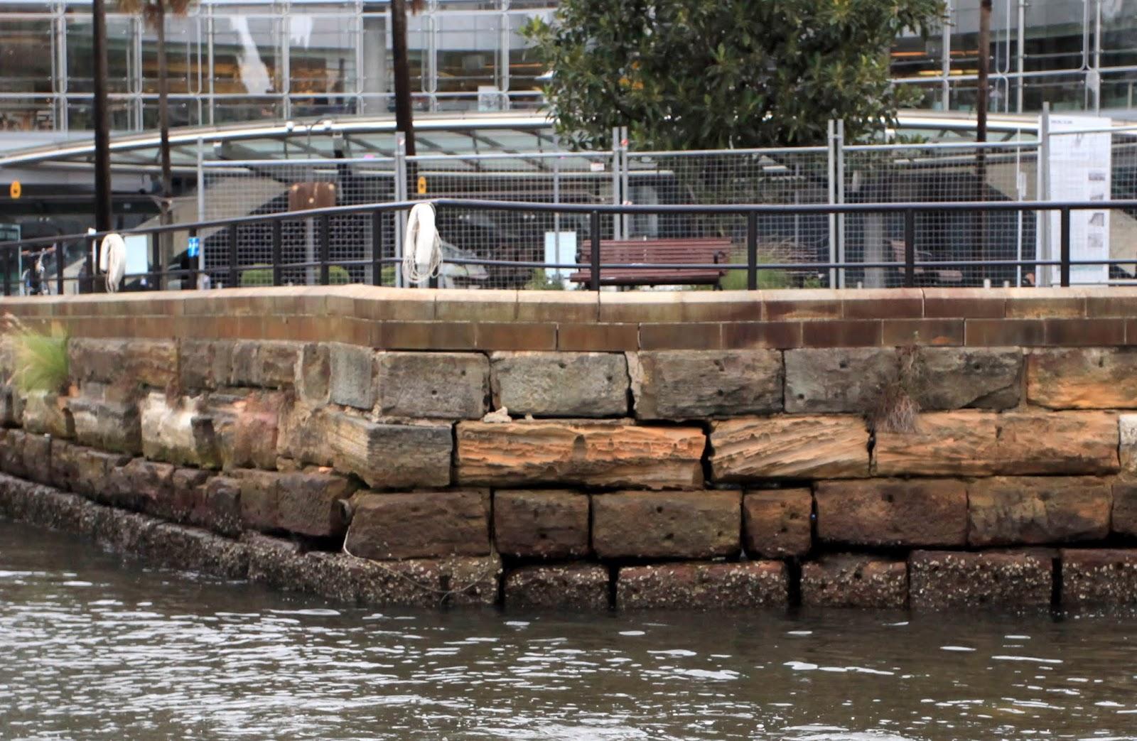 Granite Block Seawall : Sydney eye sandstone seawalls