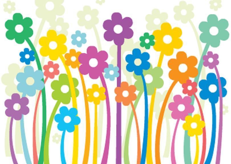 tempos de tudo papel de parede de flores
