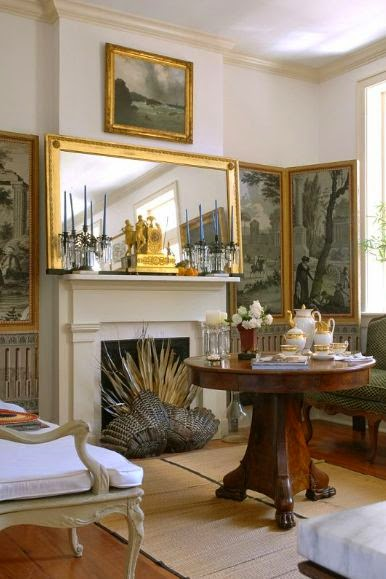 traditional living room vignette