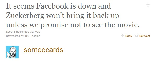 Facebook down, funny tweets