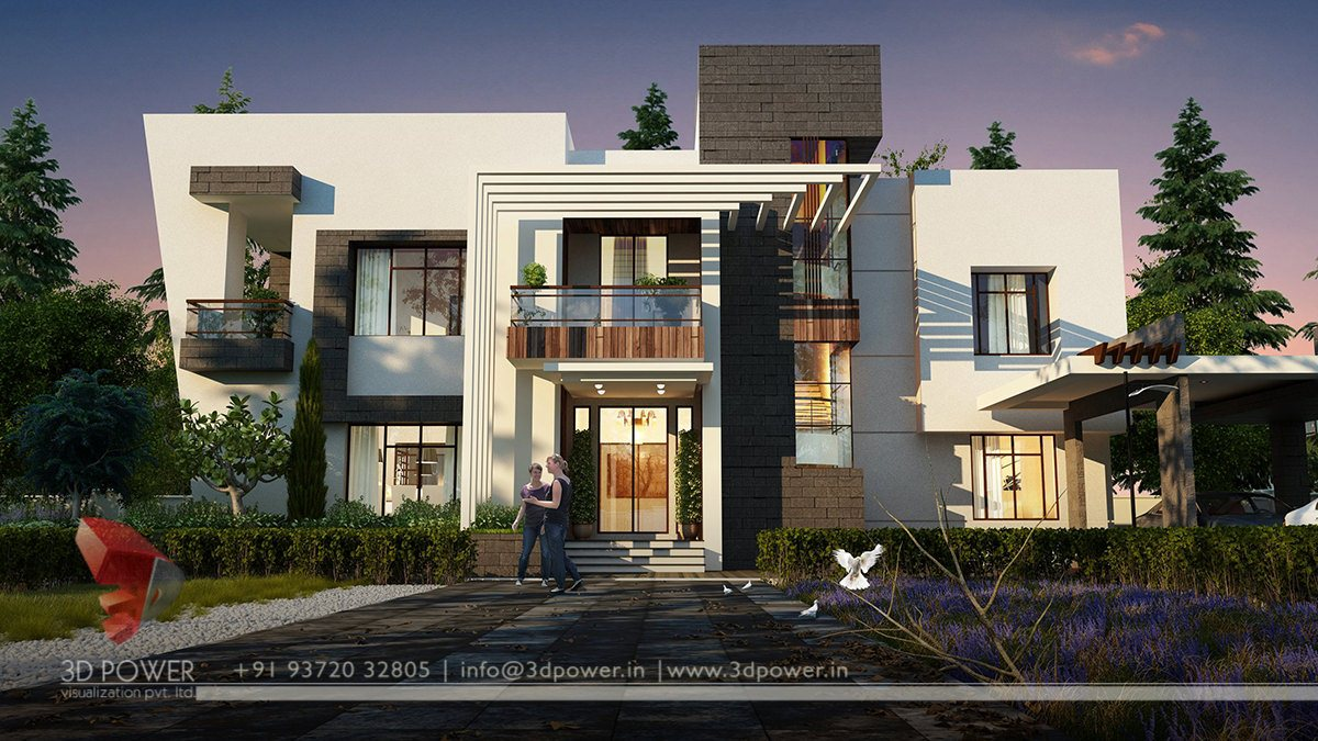 Ultra modern home design bungalow exterior where beauty for Exterior 3d design