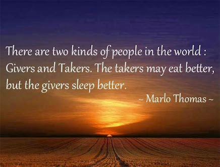Are you a GIVER or a TAKER?????