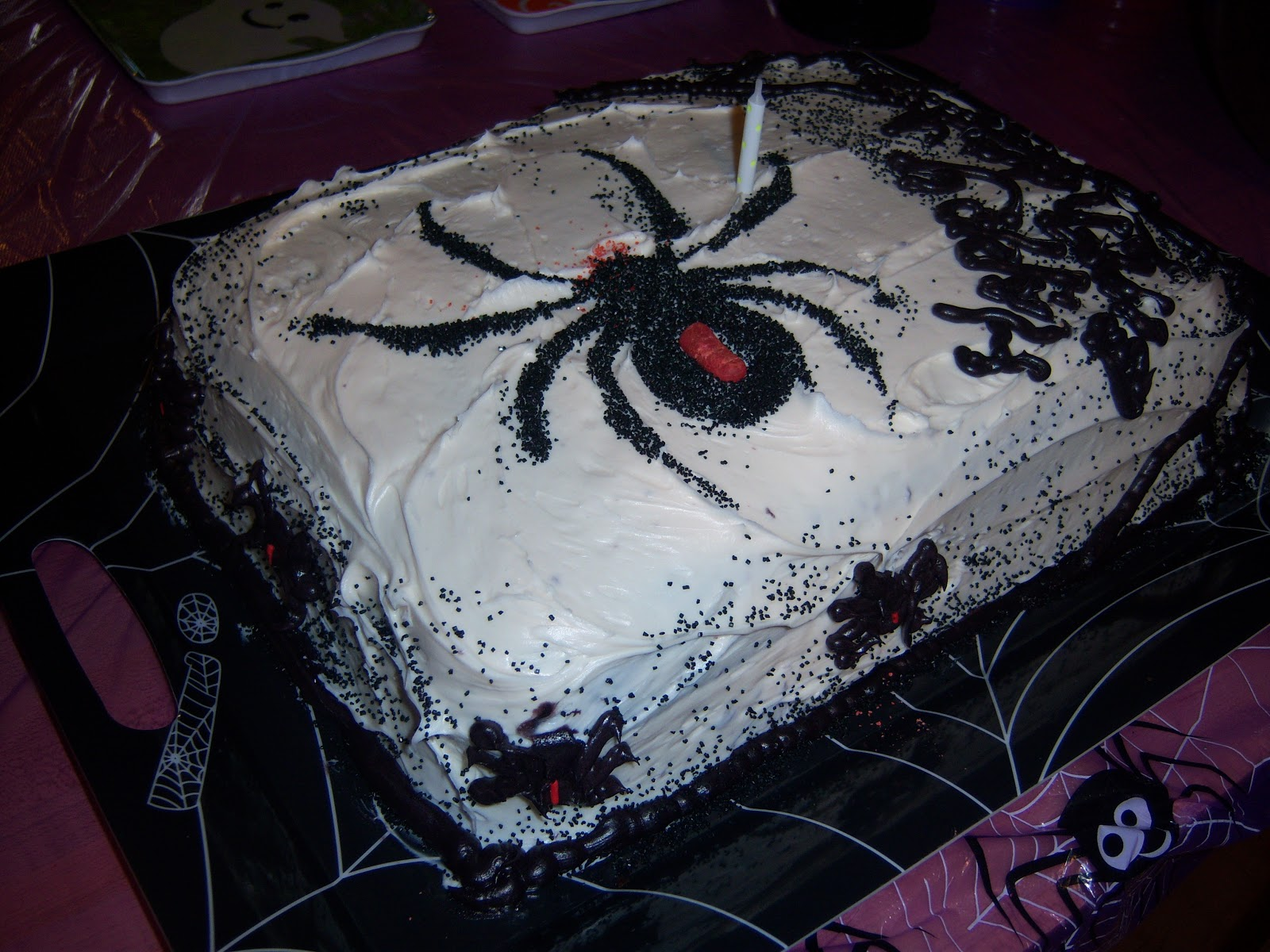 Pinecone Zen Knits Spider Birthday Cake