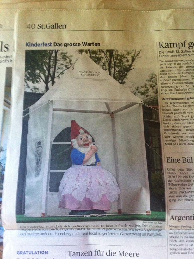 Das Kinderfest - und die Produktion in der Nähwerkstatt