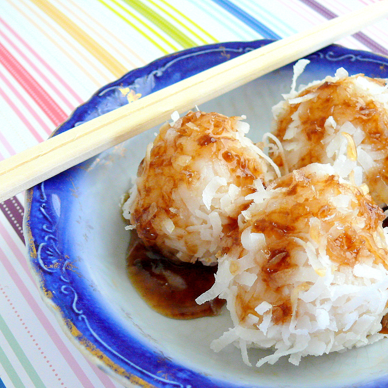 A Life of Little Pleasures: Sticky Coconut Rice Balls with ...