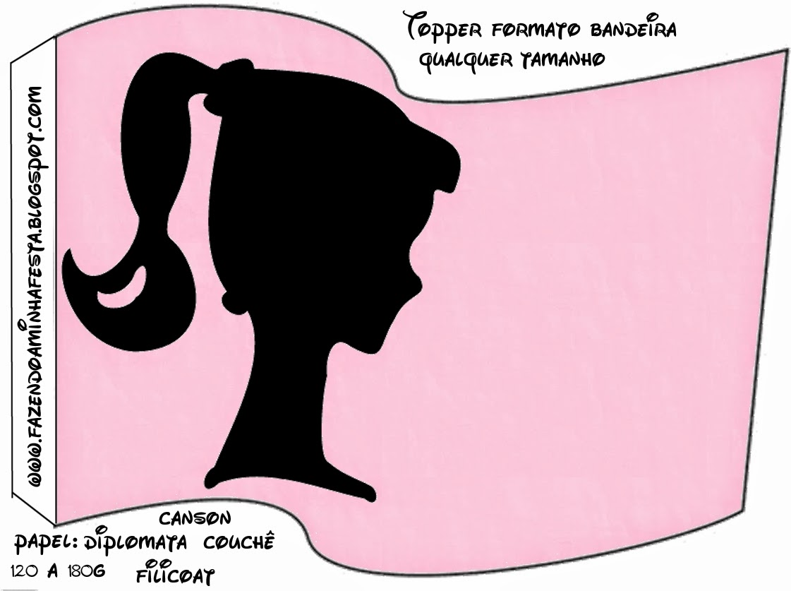 barbie silhouette free party printables images and
