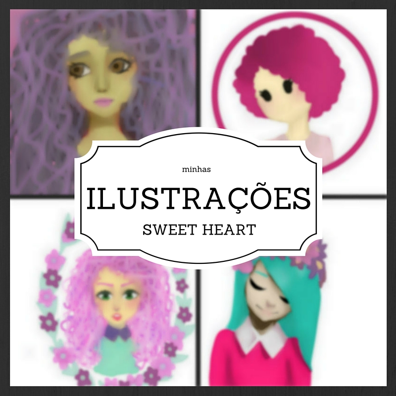 Minhas ilustrações, desenho, ilustrações, blog exalando purpurina