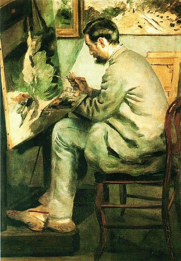 Огюст Ренуар. Портрет Фредерика Базиля. 1867.