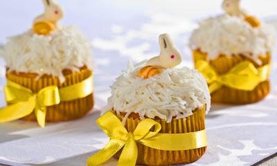 Cupcake de laranja e coco