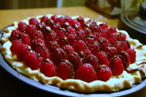 Recipes food, raspberry pie, good food
