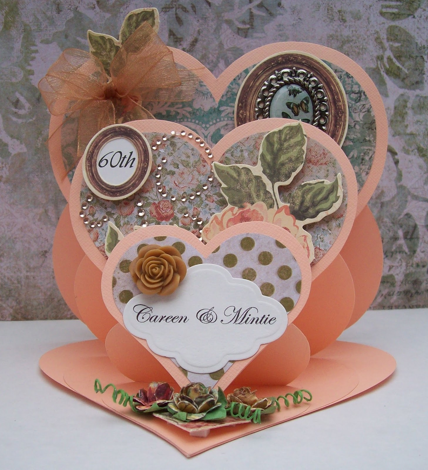 Card Making Paradise Part - 50: This Card Is A Triple Heart Card - Super To Make And I Think It Is  Beautiful! Again, Using The Same Papers From Kaisercraft. They Were Both  Made, As Orders, ...