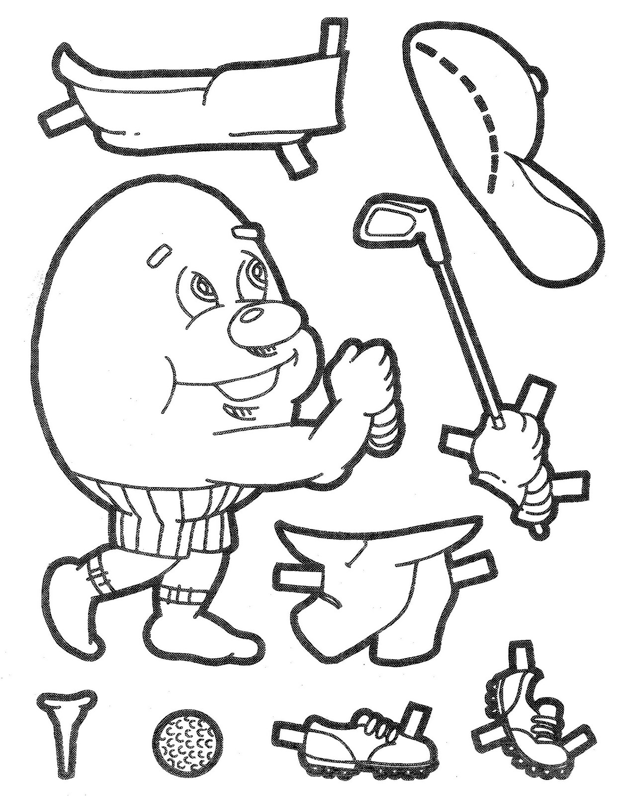 humpty dumpty coloring page coloring pages for kids and for adults ...