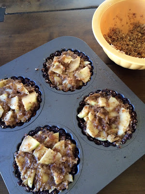 raw apple tarts