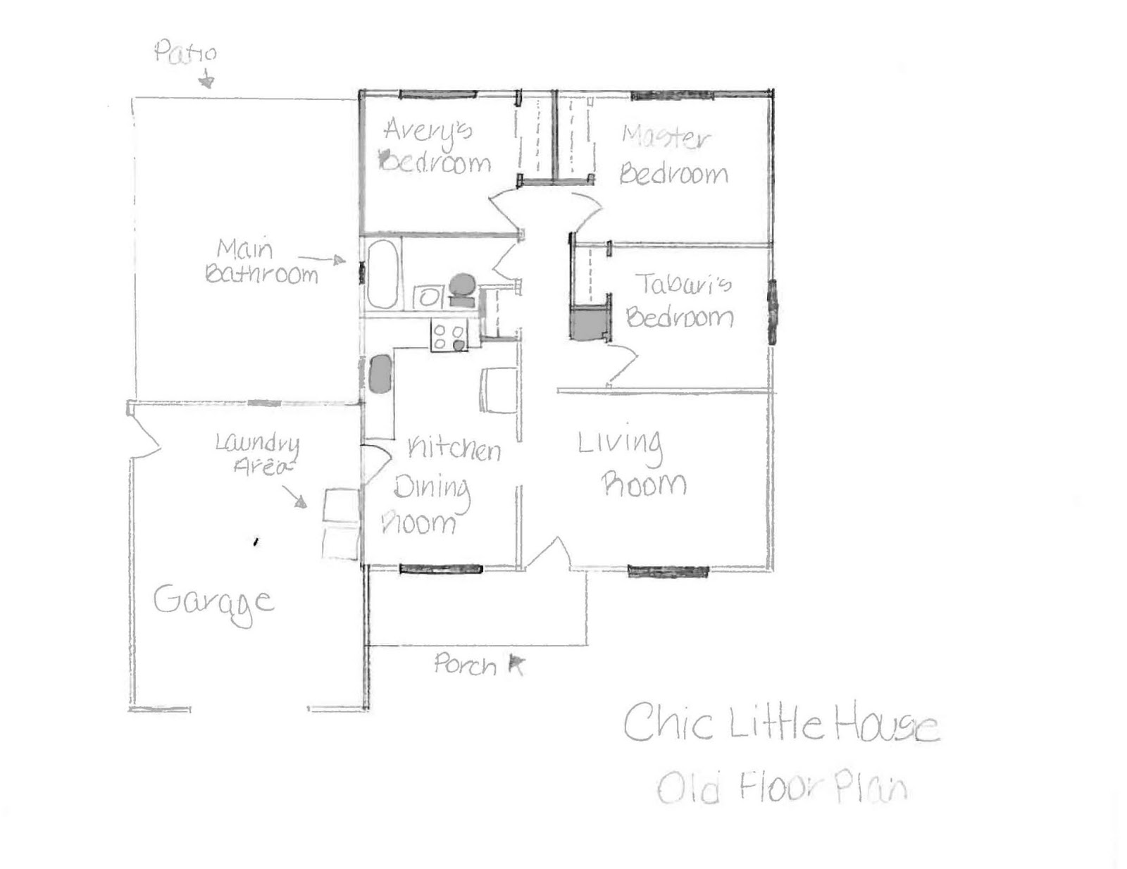 Chic Little House Our Home The Floor Plan