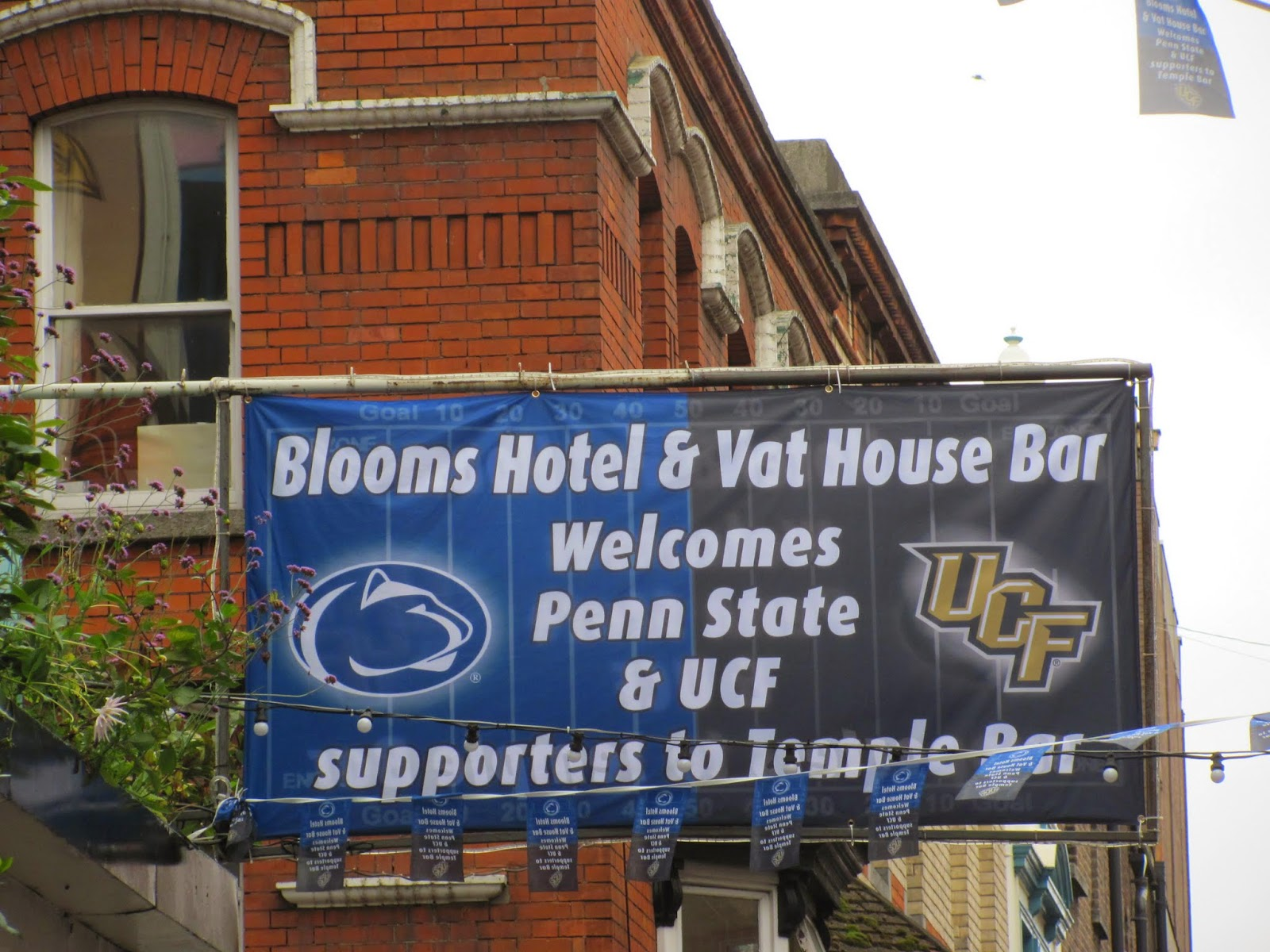 The VAT House Sign for Penn State and UCF Croke Park Classic 2014