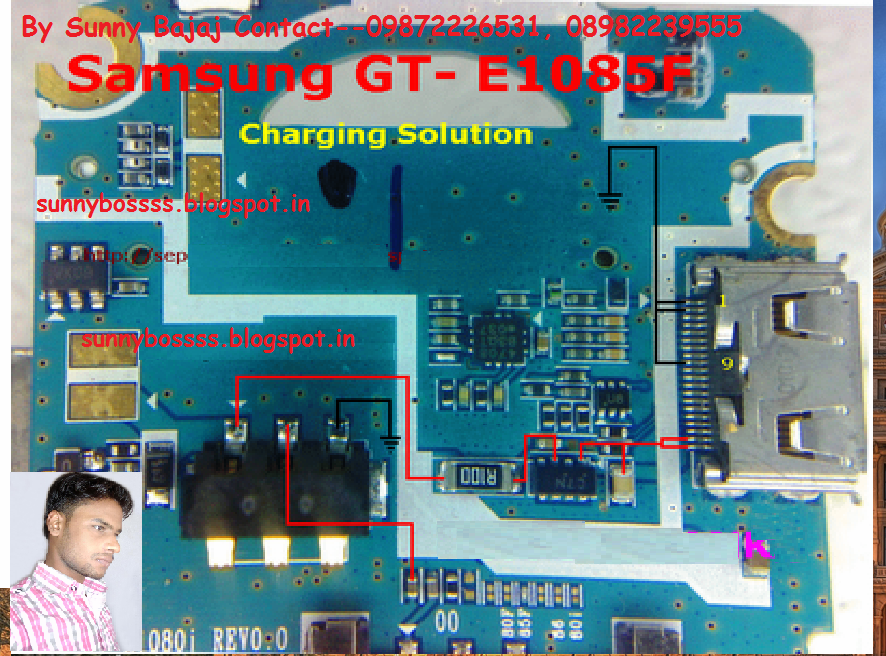 Samsung GT-E1085 F Charging Solution