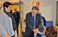 VISITA DE L'ALCALDE DE VILAFRANCA I LA COMISSIÓ DE LA GENT GRAN