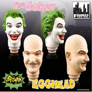 "Figures Toy Comany World's Greatest Heroes 12"" Batman 1966 Figures - Joker & Egghead"