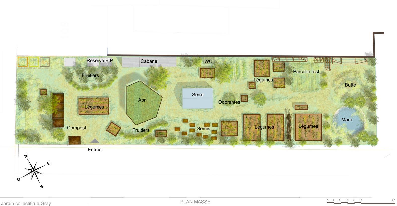 Jardin collectif de la rue gray projet de plan du jardin for Projet de plan