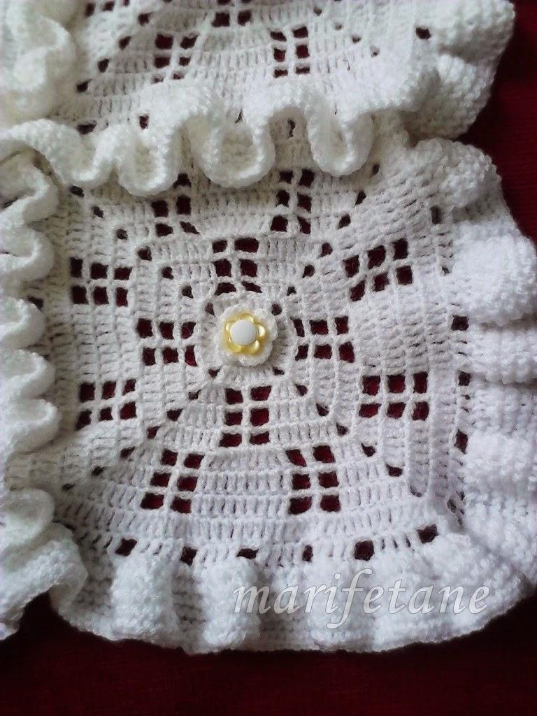 Tiğ ve Şiş İle Motifli Bebek Battaniyesi