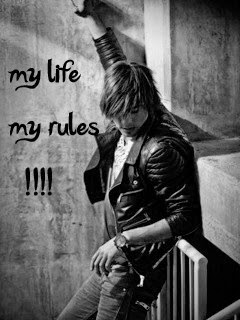 my life my rules 240x320 mobile wallpaper mobile