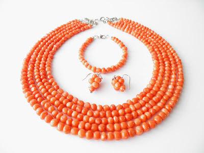 Ekokoral, biżuteria góralska do ślubu, koral , biżuteria z korala