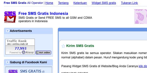 Kirim SMS Gratis ke Nomer GSM/CDMA di Seluruh INDONESIA