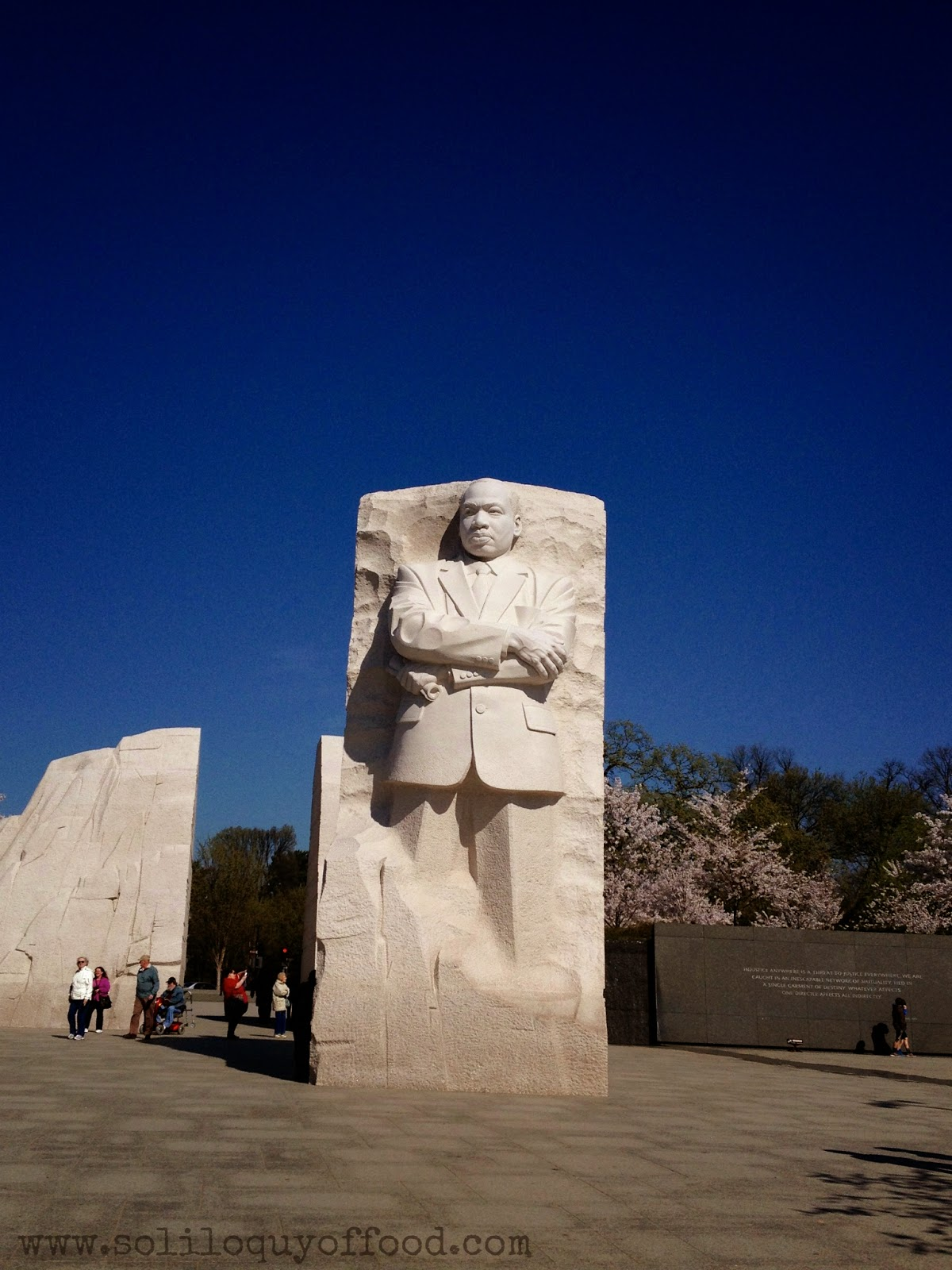 Martin Luther King, Jr. National Memorial - Cherry Blossoms 2014 - www.soliloquyoffood.com