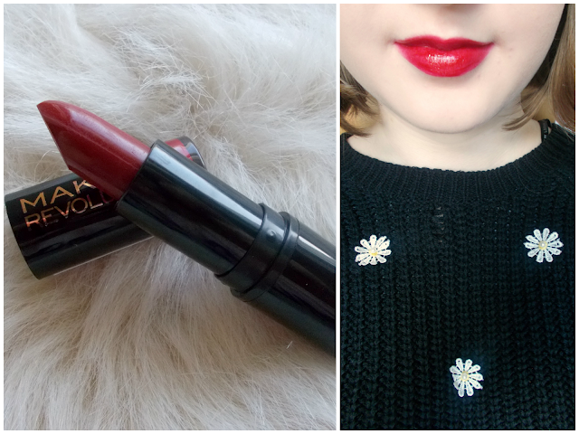 Makeup Revolution red lipsticks review/comparision: Reckless