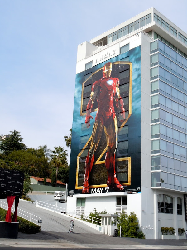 Giant Iron Man 2 billboard