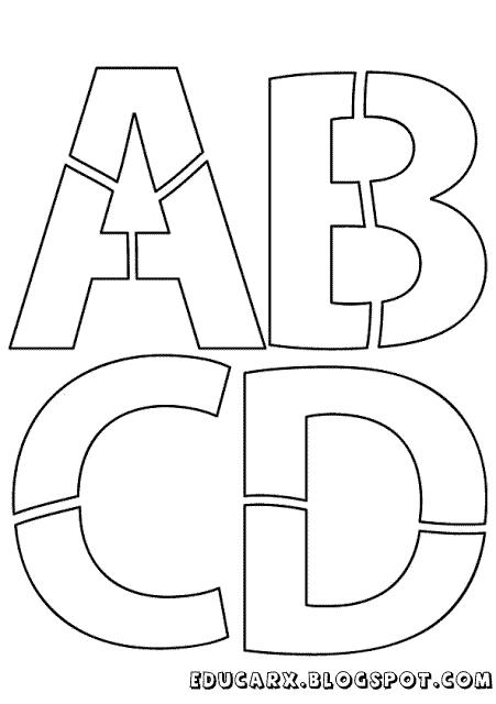 Modelo de letras para mural