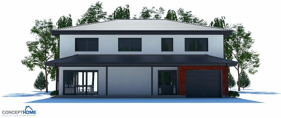 Plantas de casas modernas planta de casa moderna ch180 for Casa moderna 9 mirote y blancana