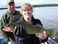 Rainbow Point Lodge walleye fishing