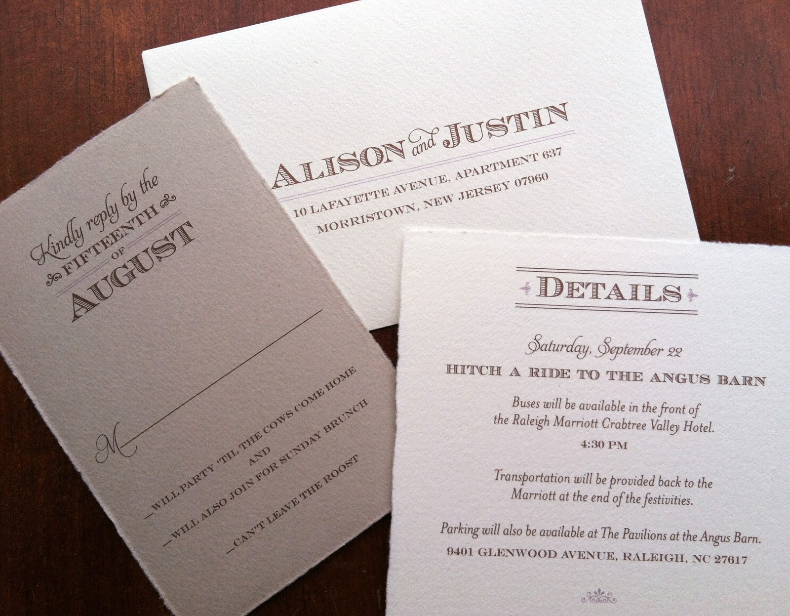 Invitations, Ink, Social Design Studio: Rustic Angus Barn Wedding ...