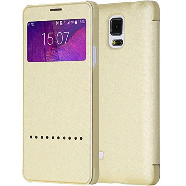 เคส Note 4 ฝาพับ Rock แท้ 143029 สีทองอ่อน