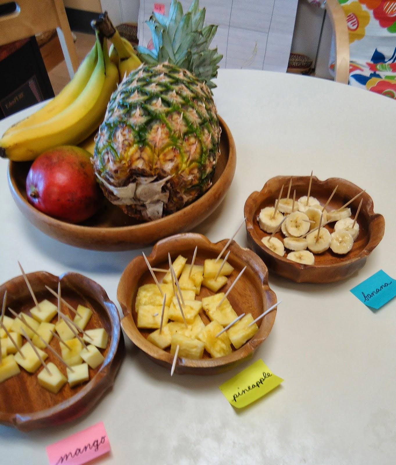Tropical Fruit Taste Test - Dirigo Montessori School