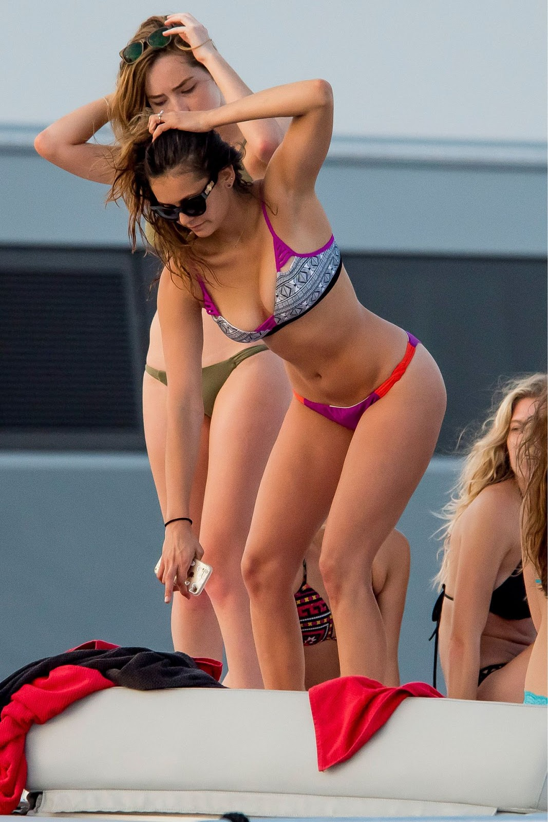 Bikini clad Nina Dobrev parties with pals in Saint Tropez