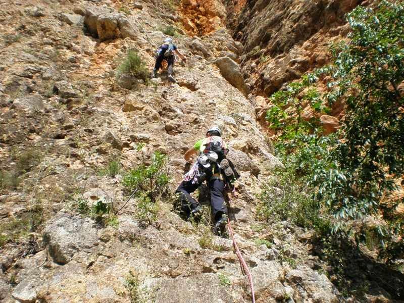 LOS ABERRONCHOS: Espolon Ribes Sabate V-V+ 100mts (St Lloren� de ...
